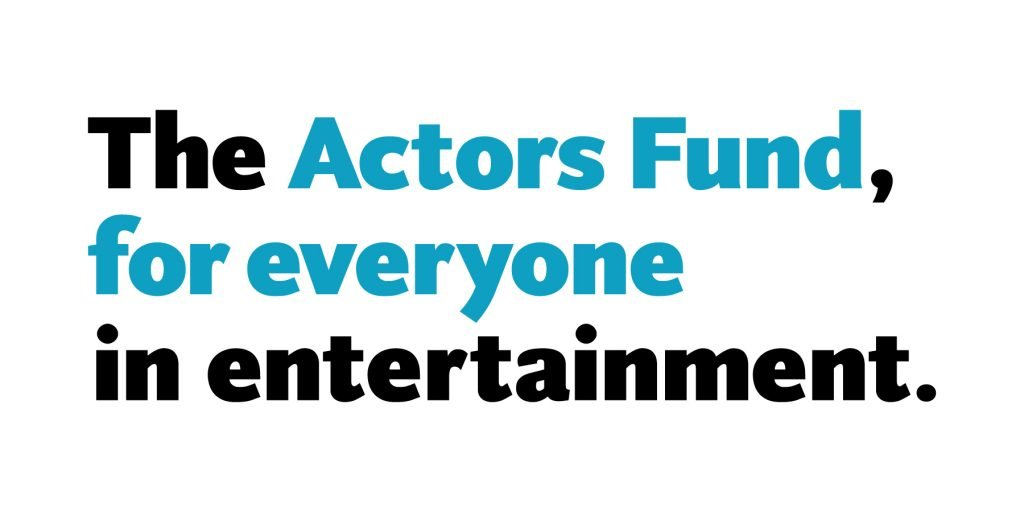 Logo of the Actors Fund supported by One World Our Song
