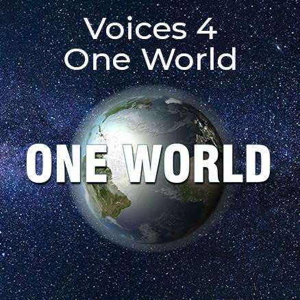Voices 4 One World Logo on www.oneworldoursong.com